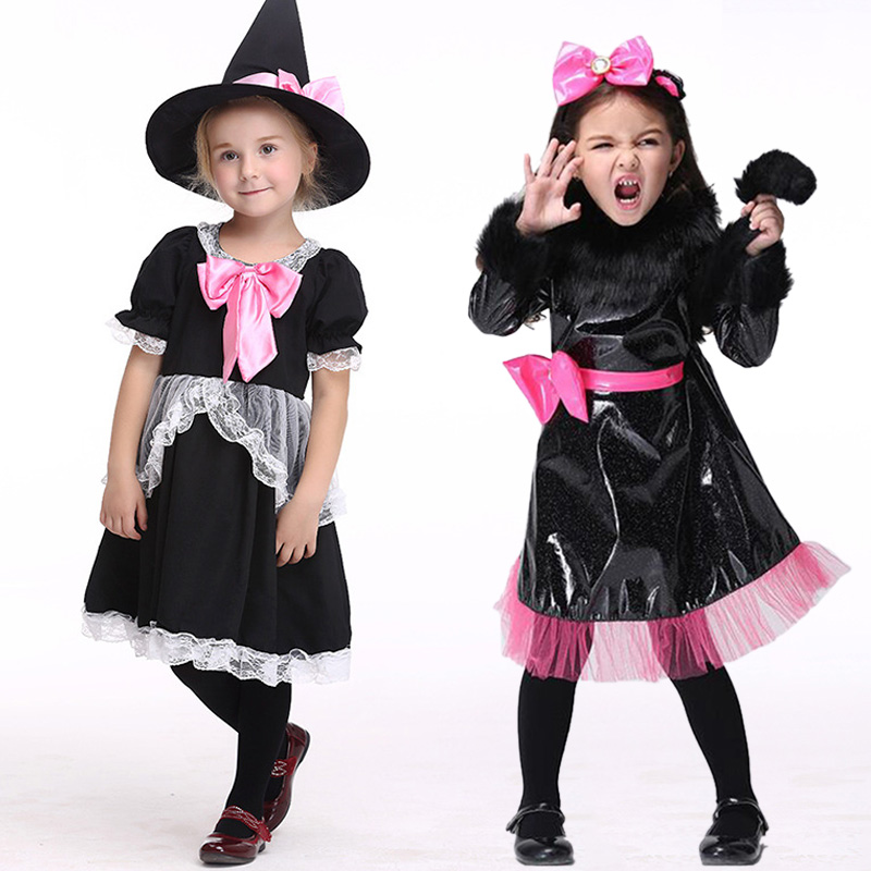 ФОТО Fashion Kids Costumes Girls Halloween Party Outfit Child Festival Fancy Dress Clothes Performance Clothing Size S-XL