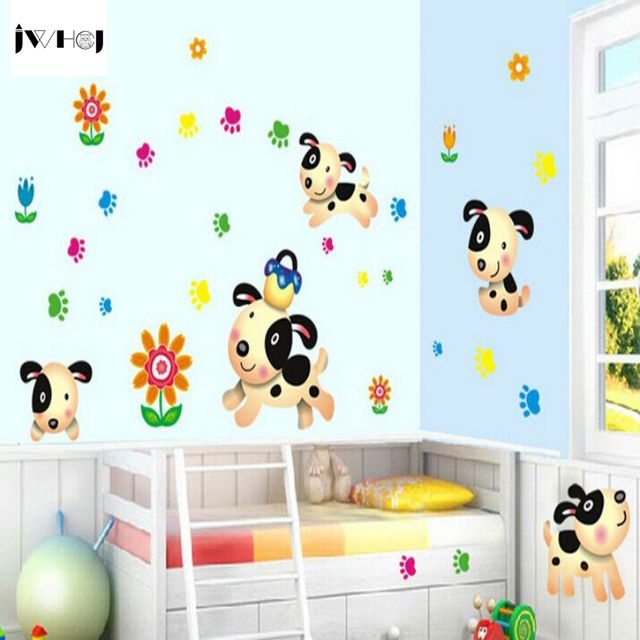 Delightful JWHCJ Handmade DIY Wall Stickers Childrenu0027s Room Decoration Stickers Glass  Stickers Craft Cartoon Pet Dog Daily
