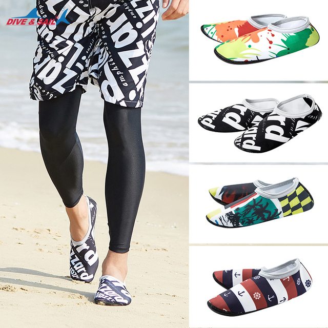 80e96b165ec0 Womens and Mens Water Shoes Barefoot Quick-Dry Aqua Socks for Beach Swim  Surf Yoga
