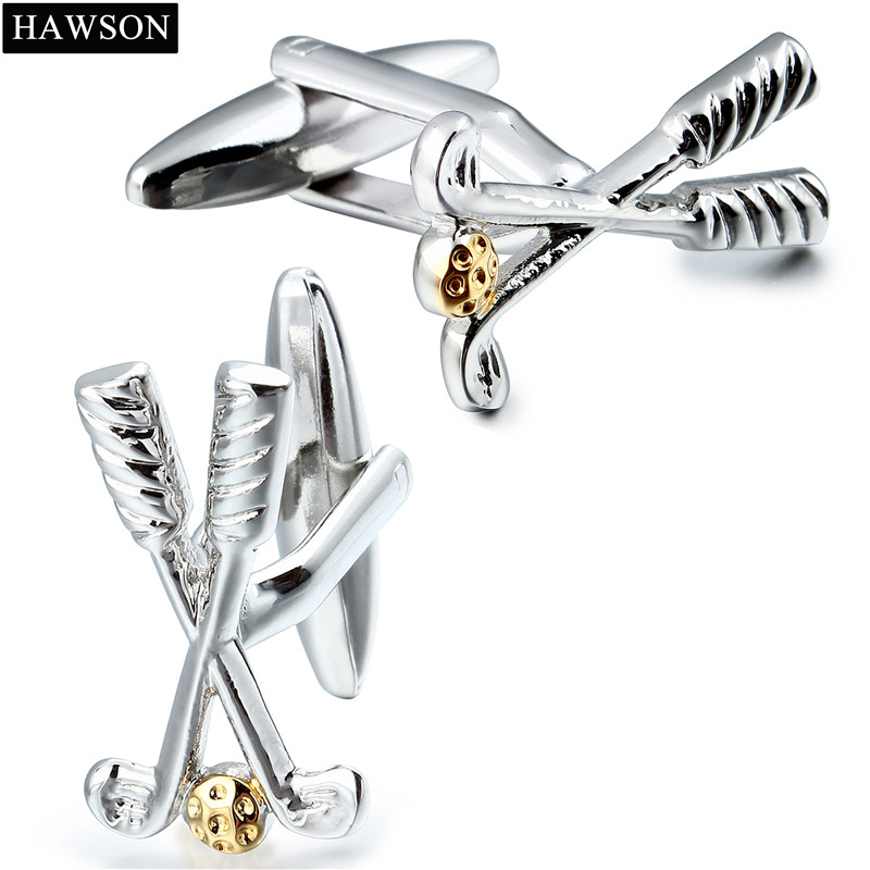 Free Shipping Sporty Golf Cuff links for Men Fashion Metal GolfBall Cuff Link Mens Suit  ...