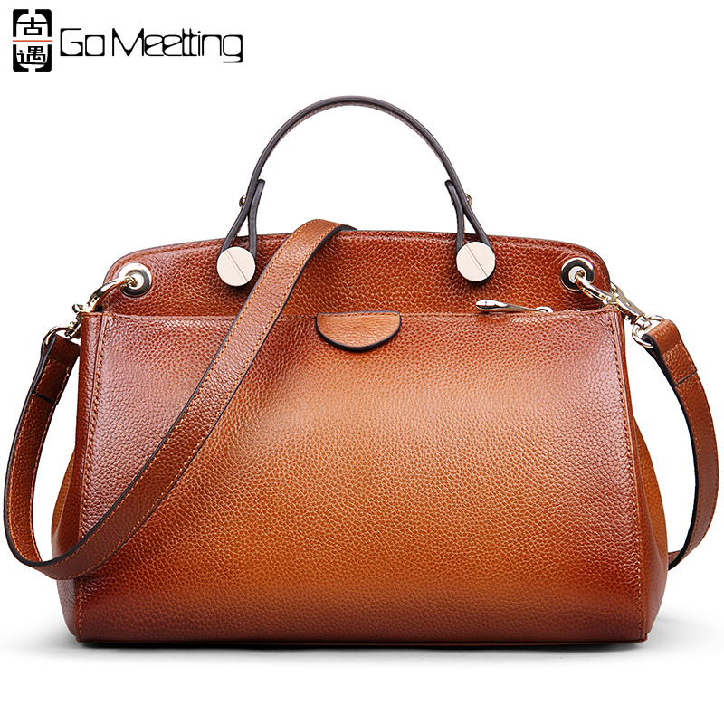 766f84d88cc3 Buy genuine leather solid color vintage bag and get free shipping on  AliExpress.com