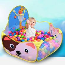 Ball Pool mit Korb Kinder Spielzeug Ozean Ball Pit Baby Laufstall Zelt Outdoor Spielzeug für Kinder Ballenbak