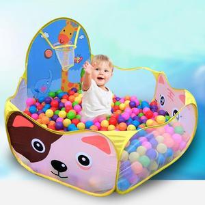 Image 1 - Basen z piłeczkami z koszem zabawka dla dzieci piłka oceaniczna Pit Baby kojec namiot zabawki na zewnątrz dla dzieci Ballenbak