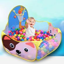 Top havuzu ile sepeti çocuk oyuncağı okyanus top çukur bebek oyun parkı çadır çocuklar için açık oyuncaklar Ballenbak