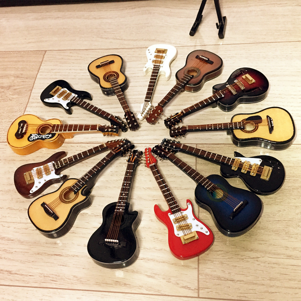 Guitar Miniature-Model Musical-Instrument Electric-Guitar-B-Model Model-Collection Wooden