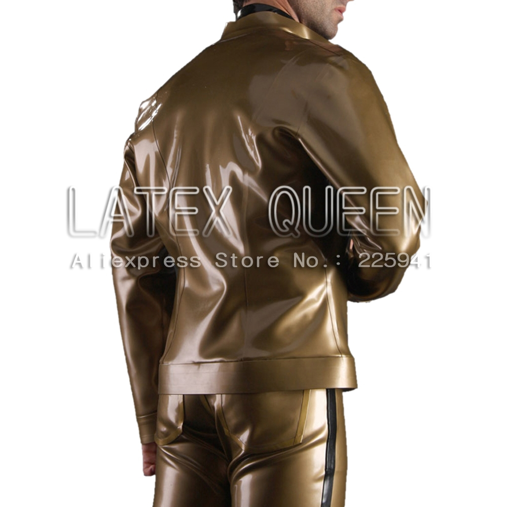 Herren Latex Gummijacken Oberbekleidung Metallic - Herrenbekleidung - Foto 3