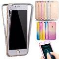 Para o caso do iphone 7 proteger transparente tpu silicone macio flexível completo corpo protetor tampa da caixa clara para iphone 6 7 plus 5S SE