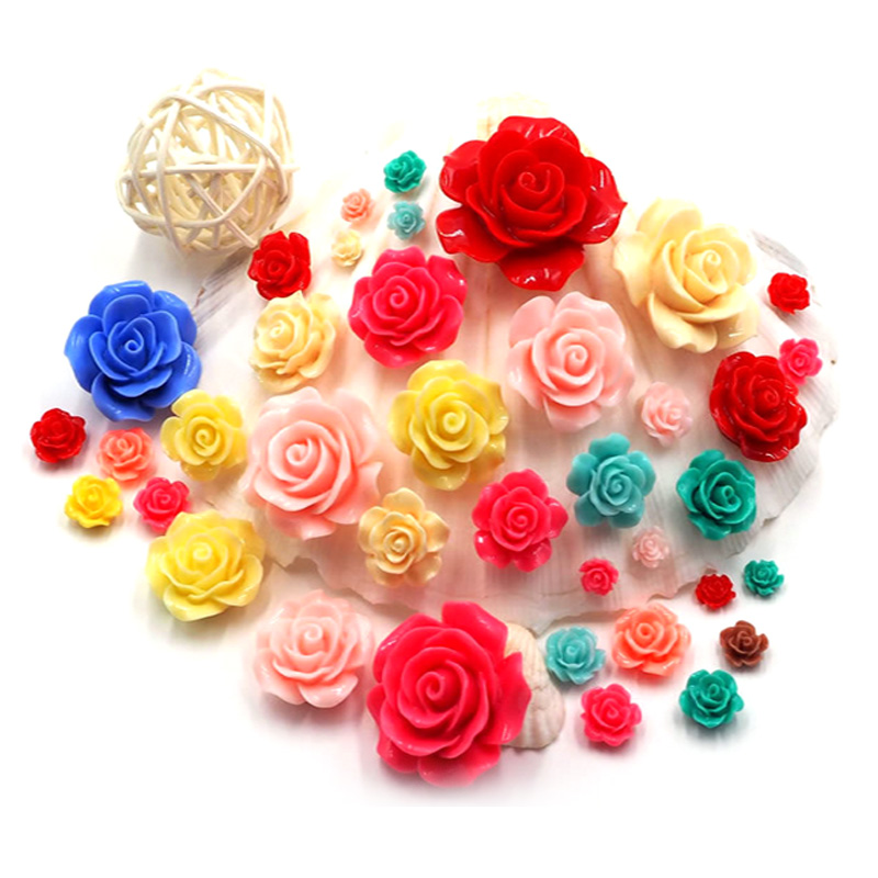 6mm Nail Flower Design Mix Color Rose Flowers 3d Nail Art Charm