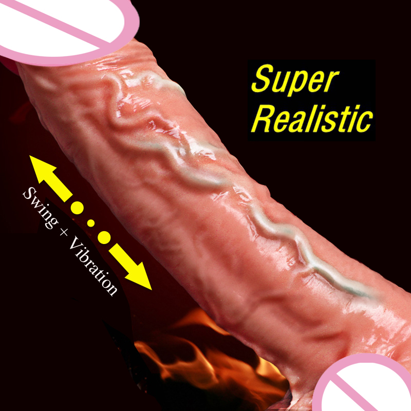 Automatic Swing Dick Huge <font><b>Penis</b></font> Vibrator Female Masturbation Super Realistic <font><b>Dildo</b></font> Vibrator Erotic <font><b>Sex</b></font> Products Adult <font><b>Toys</b></font> Women image