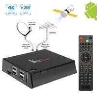 Dört Çekirdekli 2 GB RAM H.265 Android 5.1 Ile Dijital DVB-S2 Uydu IKS Cccam Biss DVB-T2 Combo Alıcı 4 K TV Tuner Bluetooth 4.0