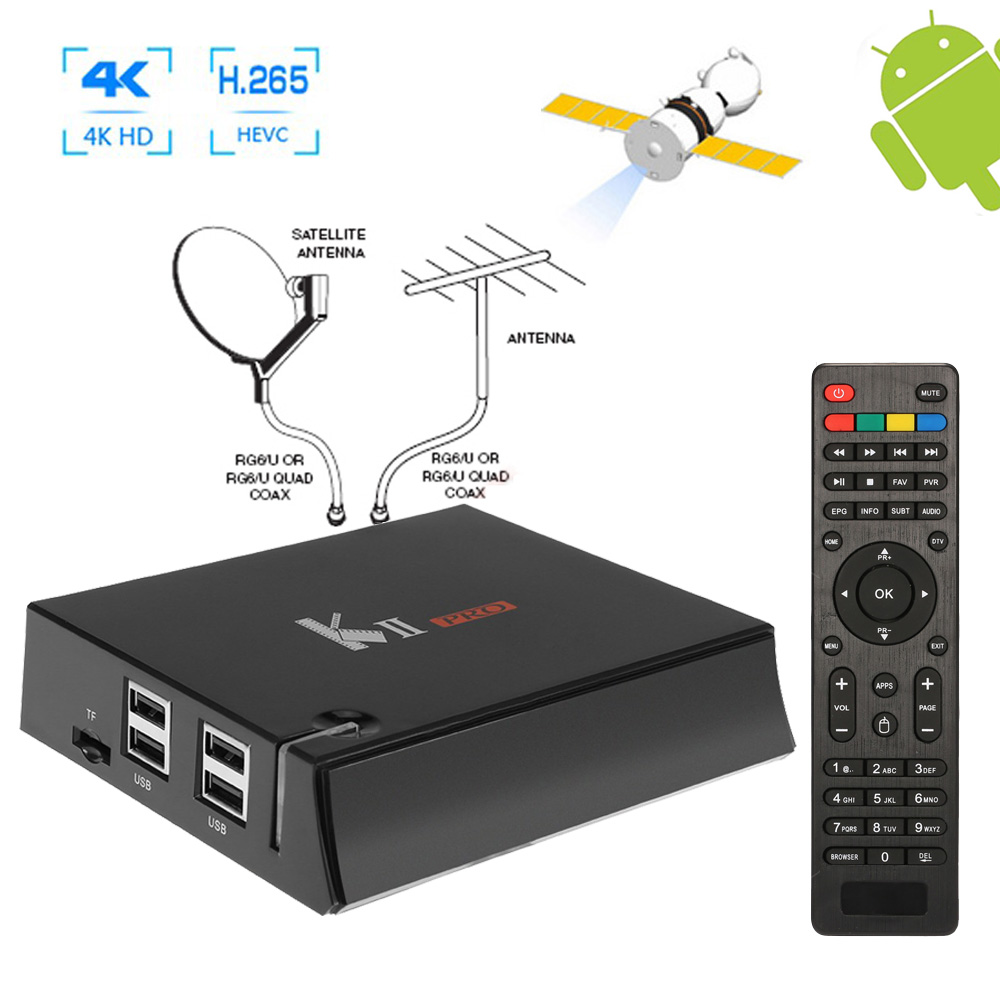 Quad-Core 2GB RAM H.265 Android 5.1 With Digital DVB-S2 Satellite IKS Cccam Biss DVB-T2 Combo Receiver 4K TV Tuner Bluetooth 4.0 digital hd satellite dvb t2 s2 s combo tv receiver receivable for iptv youtube cccam iks bisskey wifi dongle dvb t2 s2 tv tuner