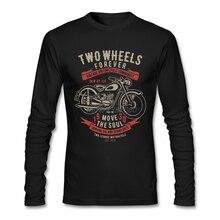 Два колеса переместить Soul ботинки в байкерском и винтажном стиле футболка с длинными рукавами, футболка для мальчиков с надписью в стиле по...