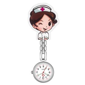 Waterproof Retro Mini Student Girl Hanging Watch Digital Quartz Clip Type FOB Nurse Doctor Watch Hanging Female lady's luminous