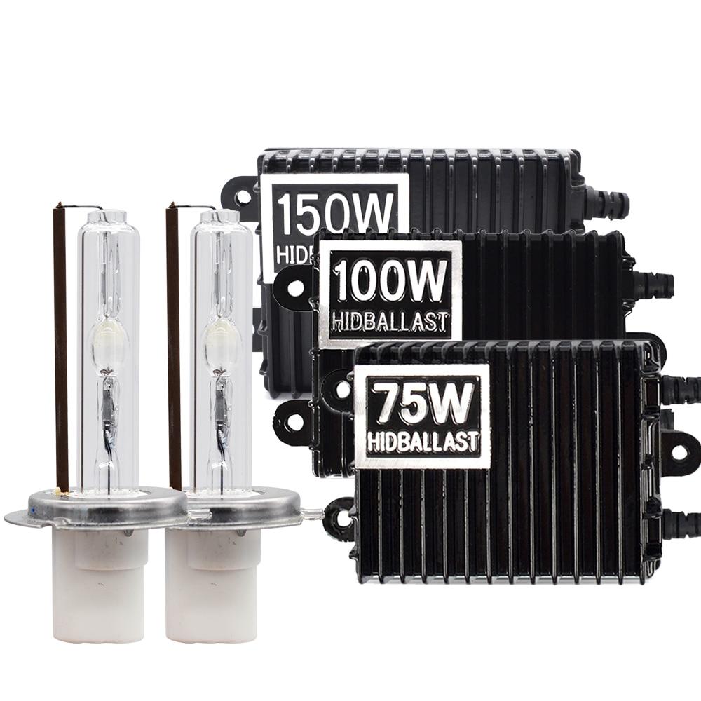 SKYJOYCE High Power 75W 100W 150W Xenon HID Bulb Ballast Kit 4300K 6000K 8000K Ceramic HID Xenon H1 H7 H11 9005 D2H Bulb HID Kit-in Car Headlight Bulbs(Xenon) from Automobiles & Motorcycles    1
