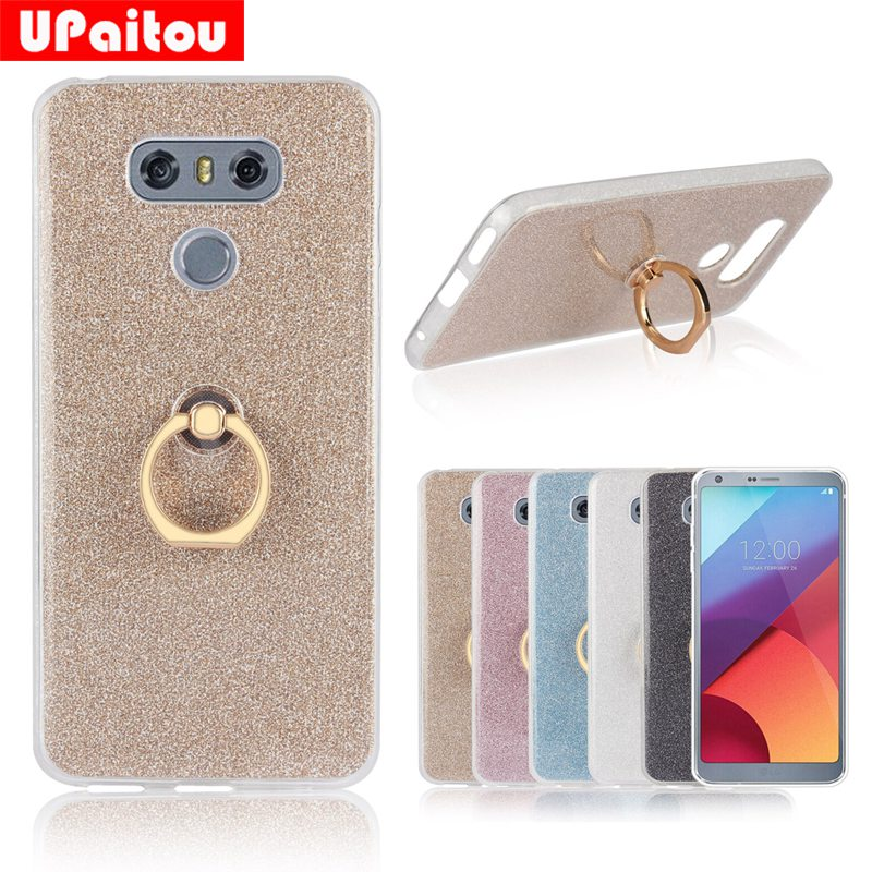 UPaitou Glitter Bling Case For <font><b>LG</b></font> <font><b>G6</b></font> Case Finger Ring Holder Soft TPU Silicone Case Cover Coque for <font><b>LG</b></font> <font><b>G6</b></font> <font><b>Phone</b></font> Case Cover Shell