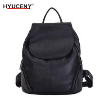 New Products Fashion Women Backpack High Quality Youth Leather Backpacks for Teenage Girls Female School Shoulder Bag 2018