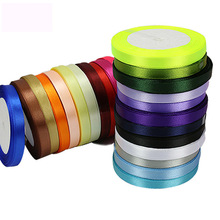 10mm/25Yards/roll grosgrain satin ribbons for wedding christmas party decorations DIY bow craft card gifts wrapping supp