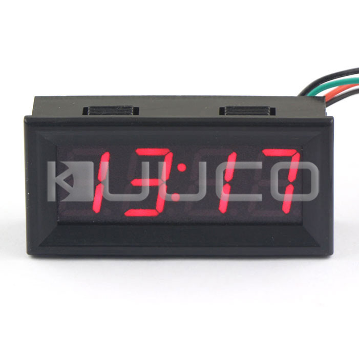 Digital Clock Red Led display Clock 24-hour Digital Meter/Panel Meter Adjustable Car Clock DC 12V 24V DIY Time Monitor/Tester digital tester 3in1 multifunction temperature humidity time lcd display monitor meter for car indoor outdoor greenhouse etc