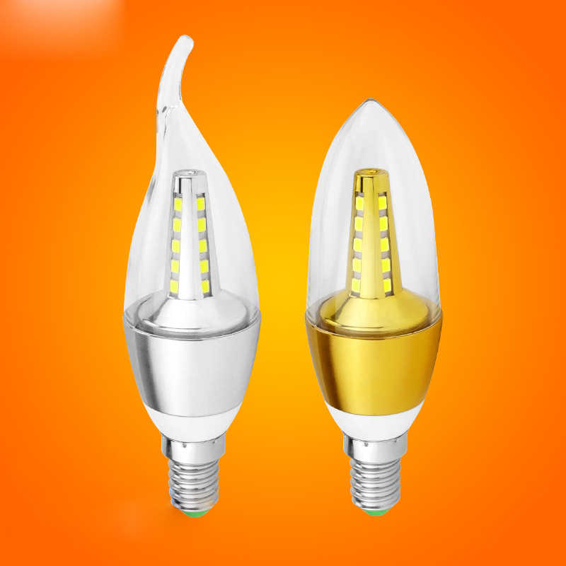 10PCS High Power LED Bulb Candle Light E14 SMD2835 5W 7W 9W AC 220V Cold White/Warm White Chandelier Lamps Spot light