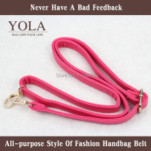 hot pink Free shipping PU leather belt male and female bag shoulder straps, color2.0cm