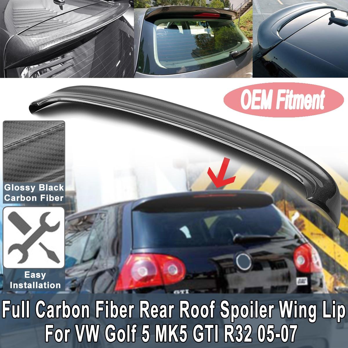 Full Carbon Fiber Rear Roof Spoiler Wing Lip Primer Rear Window Spoiler For Volkswagen for VW Golf 5 MK5 GTI R32 2005 2007