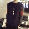 2016 New Autumn Fashion Brand Casual Sweater O-Neck Striped Slim Fit Knitting Mens Sweaters And Pullovers Men Pull Sleeve Plus