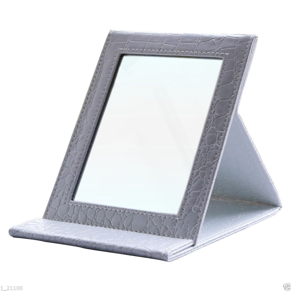 Standing Mirror Tabletop Portable Folding Standing Mirrors Travel Vanity Makeup Mirrors Square