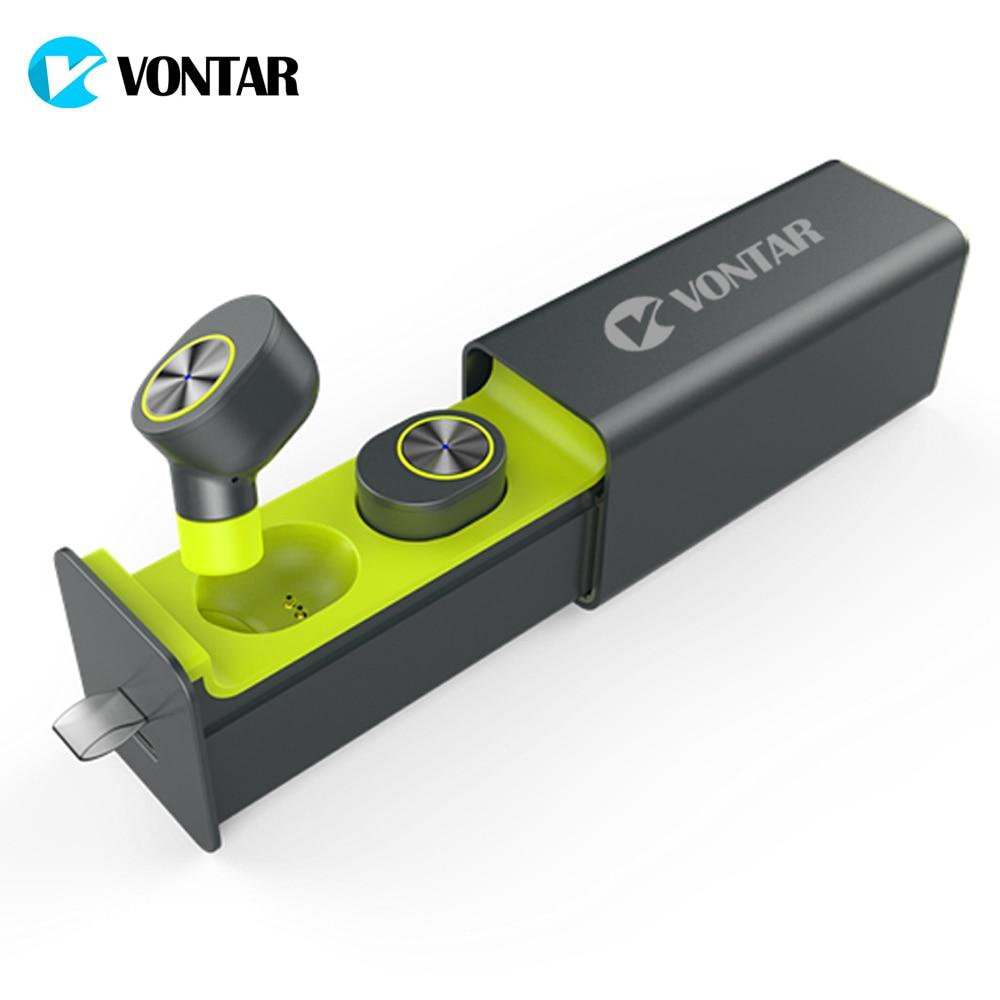 VONTAR V9 СПЦ магнитный мини Беспроводной наушники близнецов наушники Bluetooth 4,2 наушники с Батарея случае Hands Free СПЦ гарнитуры