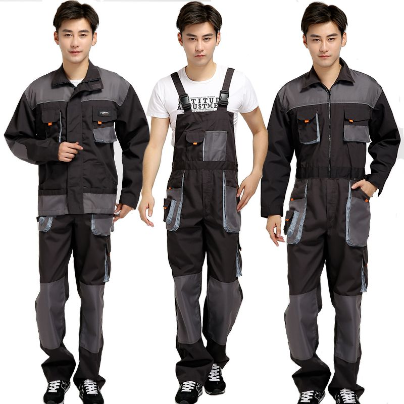 Strap Jumpsuits Pants Working Uniforms Bib Overalls Men Work Long Sleeves Rompers Safety Repairman Plus Size