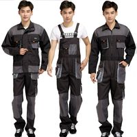 Strap Jumpsuits Pants Working Uniforms Bib Overalls Men Work Long Sleeves Rompers Safety Repairman Plus Size Sleeveless Cover