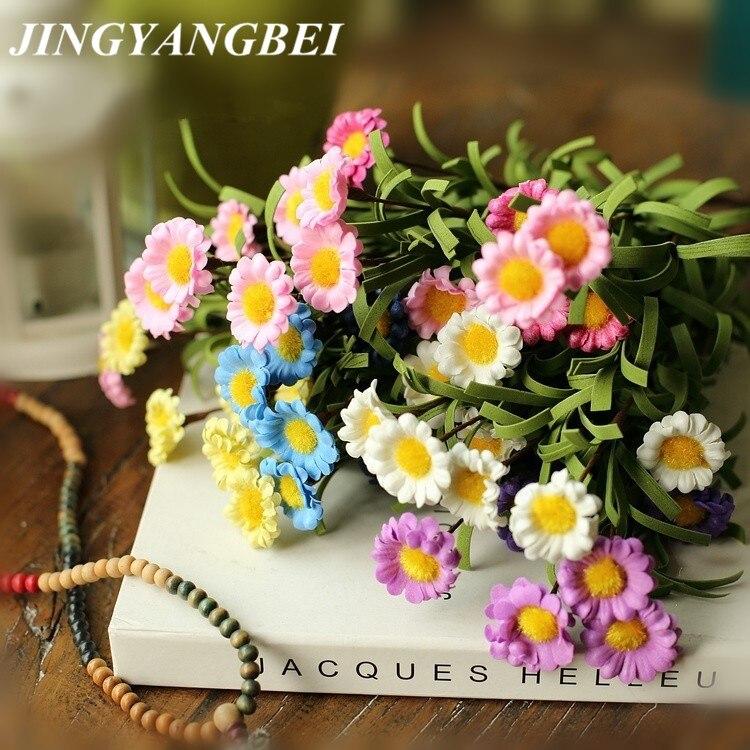 Bunga matahari buatan bunga Busa Buatan Daisy bunga Gerbera Daisy Bouquet  Home Decor Craft Untuk Dekorasi 63a111f44b
