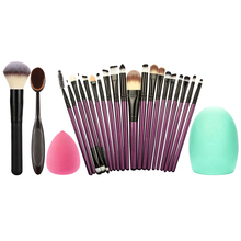 22PCS Makeup Brushes Set+Sponge Puff +Brush Cleaning Egg Gift Eyeshadow Eyeliner Eyebrow Blush Foundation Brush Maquiagem