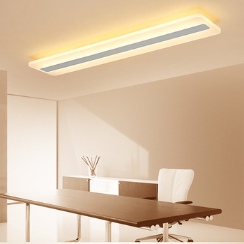 LukLoy LED Ceiling Lamp Modern Minimalist Long Balcony Aisle Corridor Rectangular Ultra-Thin Hall Entrance Lighting Accessories