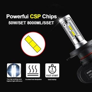 Image 2 - CARLitek N1 12 V H4 H7 bombillas Led diodos automóviles 50 W 8000LM Auto H8 H9 H1 H11 HB3 HB4 led coche de conducción faros antiniebla luces led para auto