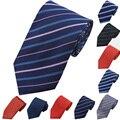 New Fashion Formal Comercial Gravata Do Pescoço, 20 Cores Do Casamento Jacquard Listrado Clássico Gravatas Dos Homens Laços De Casamento Acessórios