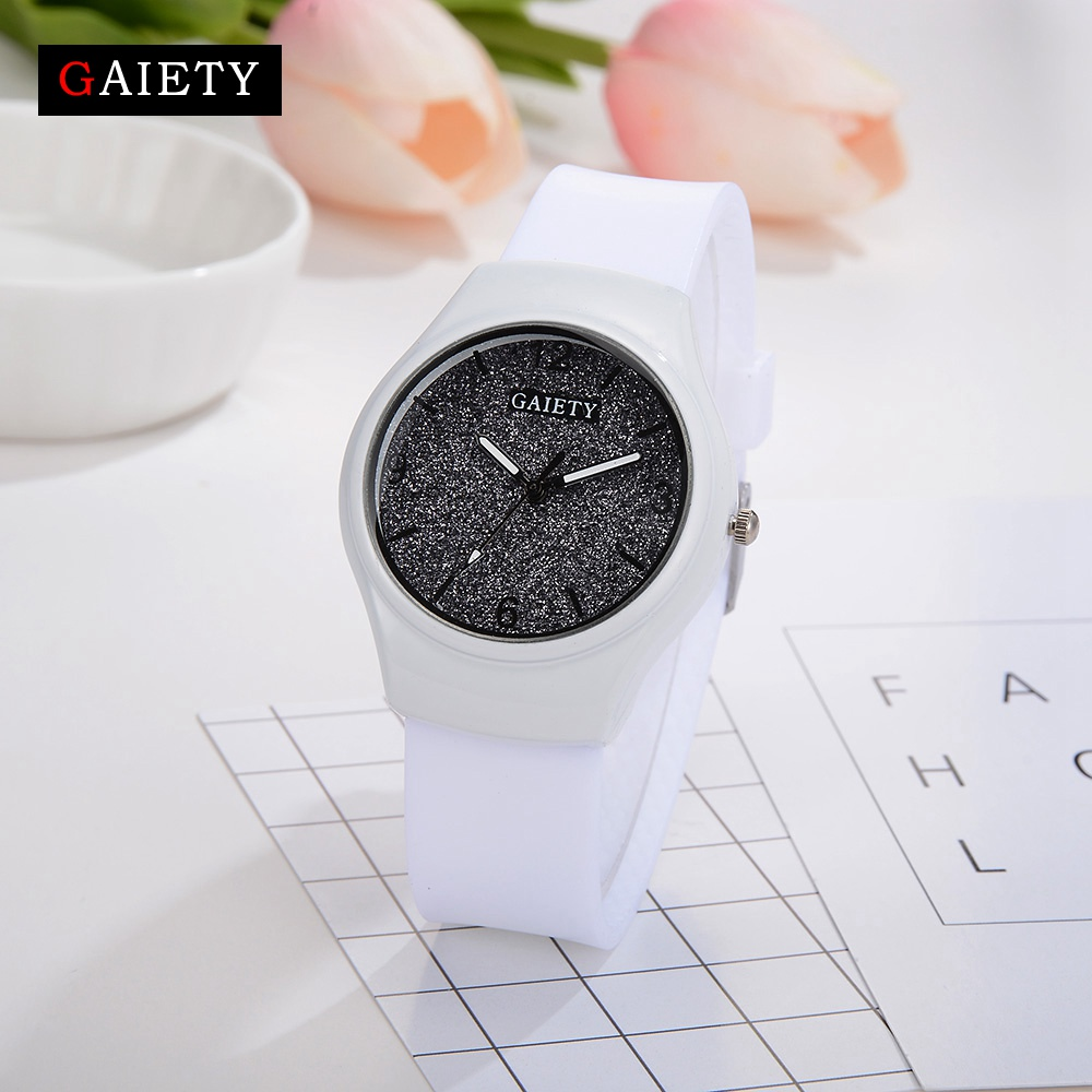Gaiety Brand Women Watches Geneva Fashion Dress Ladies Wrist Watch Silicone White Luxury Watches Fashion Casual Quartz Watch цена 2017