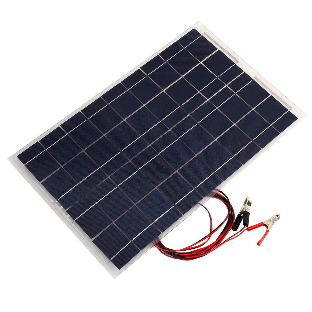 Solar Power Battery Bank >> 18v 30w Portable Smart Solar Power Panel Car Rv Boat Battery Bank