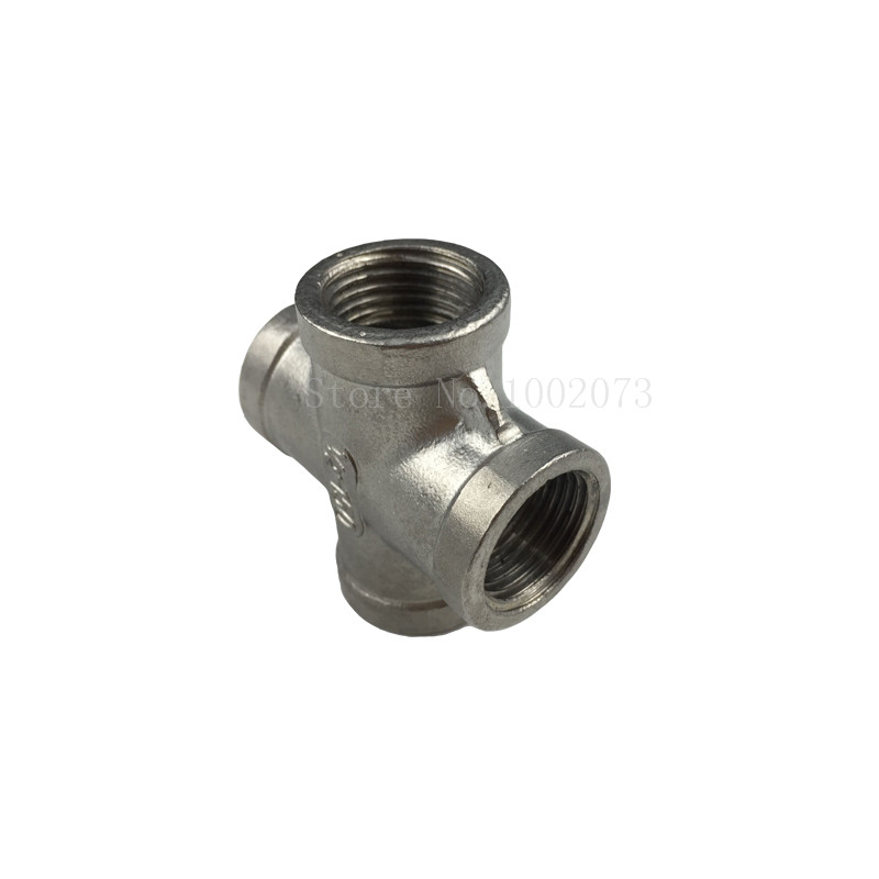 New Stainless Steel 304 Cross Thread Pipe Fitting - 12BSP, Homebrew Hardware, Pump fitting