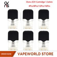 4 sztuk 8 sztuk 12 sztuk 16 sztuk Ovns JC01 kaseta 0 7ml 1 5ohm akcesoria do elektronicznego papierosa dla Ovns JC01 Pod wkład do e-papierosa tanie tanio CN (pochodzenie) Ovns JC01 Cartridge other Wymienne 1 5ohm(Ceramic)