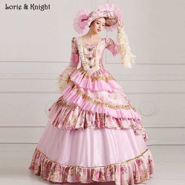 1a46a71b266 Принцесса Сисси и Мария-Антуанетта вдохновил платье Королевский бальное  платье S Quinceanera платье свадебное маскарад