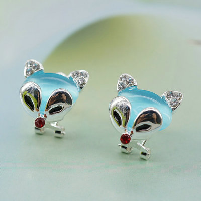 wholesale Mens Earrings Ears Water Boucles doreilles White Rhinestone for women sterling-silver-jewelry