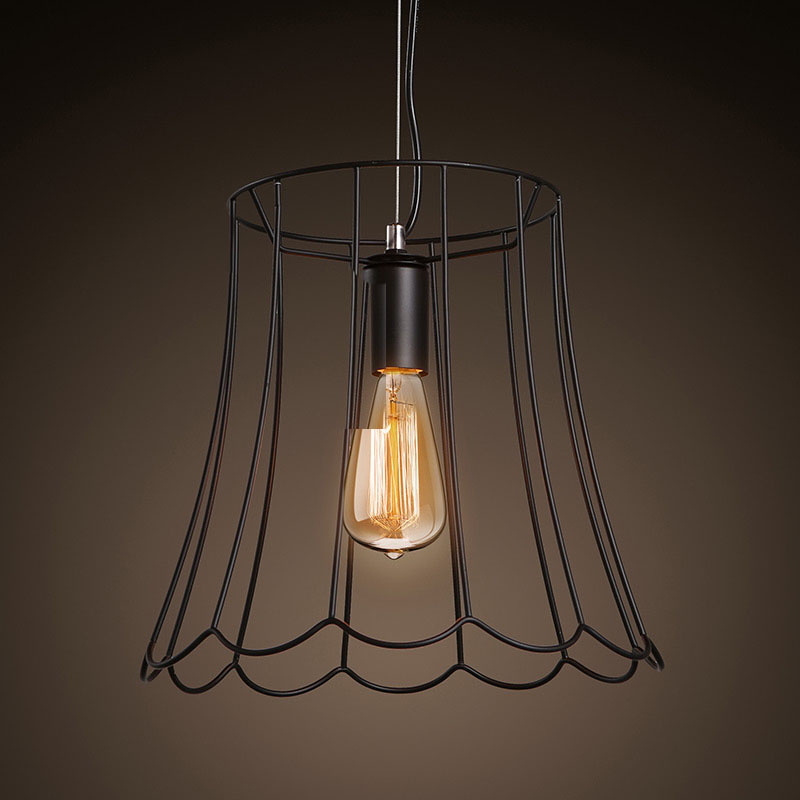 Retro Antique Vintage American Country Wrought Iron Edison led Pendant Light Warehouse Dinning Room Home Decor Lighting Fixture loft american country to do the old retro furniture wrought iron bar chairs antique dinette living room leisure chair