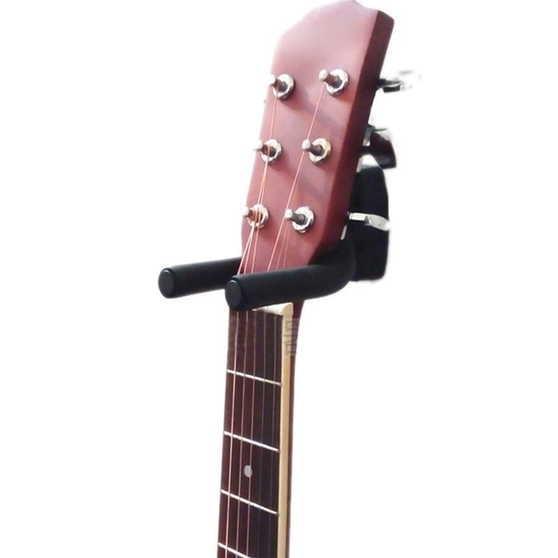 Negro Soporte de suspensi/ón para guitarra el/éctrica Soporte para montaje en pared con gancho en rack para todos los tama?os de juego de guitarra