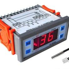 Встроенный цифровой температурный контроллер 12V 24V 220V шкаф для морозильных камер термостат контроллер температуры контроля температуры