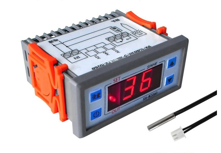 Embedded Digital Temperature Controller 12V 24V 220V Cabinet Cold Storage Thermostat Temperature Controller Temperature Control