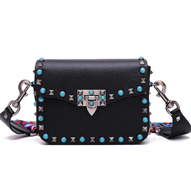 Fashion Mini PU Leather Women Crossbody Bags Rivet Vintage Shoulder Bag Designer Famous Brand Handbag Ladies Messenger Bags 2016