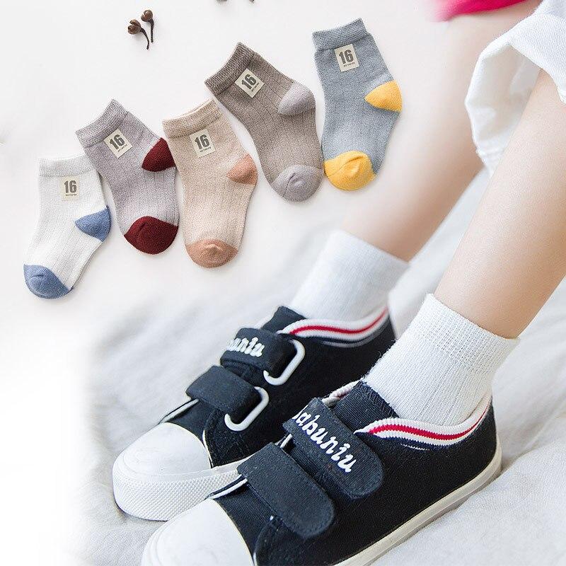 5Pair Lot Kids Cartoon Striped Socks 7 8 Children Soft Cotton Infant Seamless Non slip Toddler Girl Winter Stripes Sock For Boys in Socks from Mother Kids