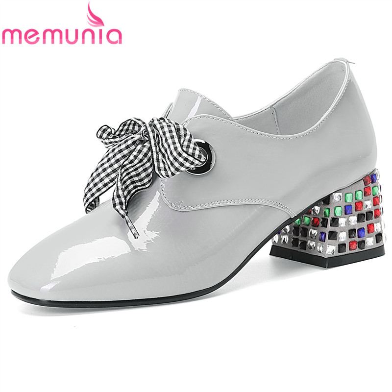 2c914b15867 Cuero Primavera Otoño Las Mujeres Damas Genuino Plus light 2019 33 Mujer 42  De Memunia Grey Purple Zapatos Tamaño Boda Nuevo ...