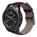 Коричневый Натуральная Кожа Крокодила Шаблон Для Samsung Gear S3 Smart watch 22 мм Замена запястье для Передач S3 Смотреть Band