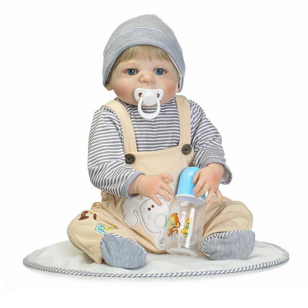 купить NPK Doll 56cm Full Body Reborn Baby Doll Soft Silicone Vinyl Doll Handmade Adorable Lovely Lifelike Doll Toys Gifts for Kids недорого